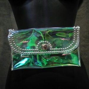 Accessories - Studded Transparent Hologram Fanny Pack